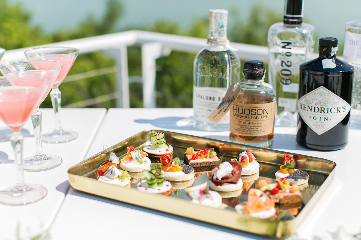 Image of a canapés tray at a party planned by Elisabetta White Events