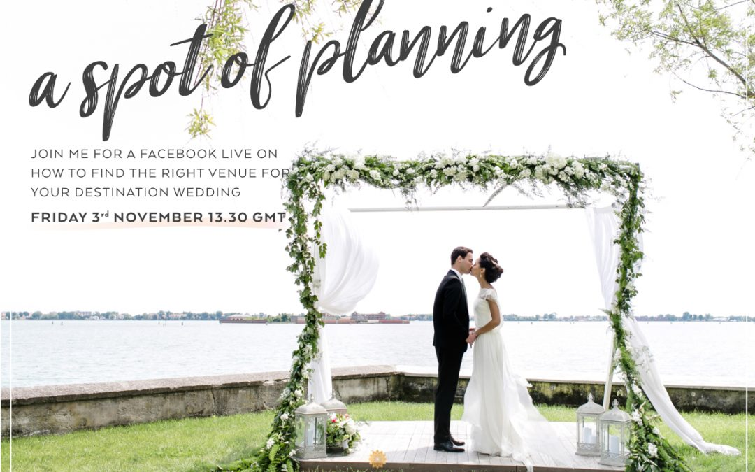How to find a venue for your destination wedding